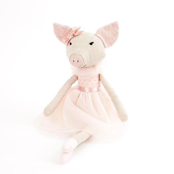 'PENELOPE' PIG BALLERINA HEIRLOOM DOLL