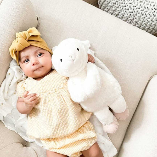 Lamb Plush Toy And Muslin Blanket Gift Set 'Loyal'