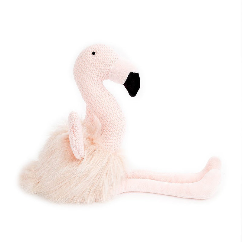'BECCA' PINK FLAMINGO KNIT STUFFED ANIMAL