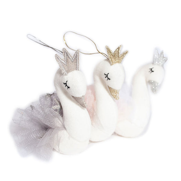 Assorted Swan Princess Ornaments