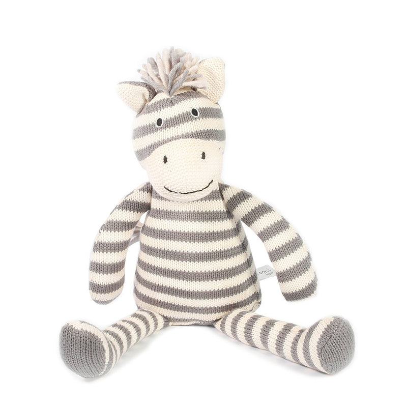 Zebra Striped Cotton Knit Toy