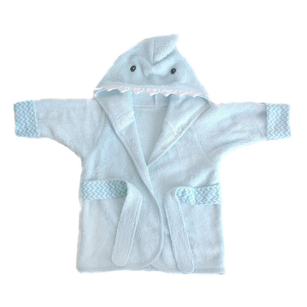 Shark Bamboo Terry Blue Baby Robe