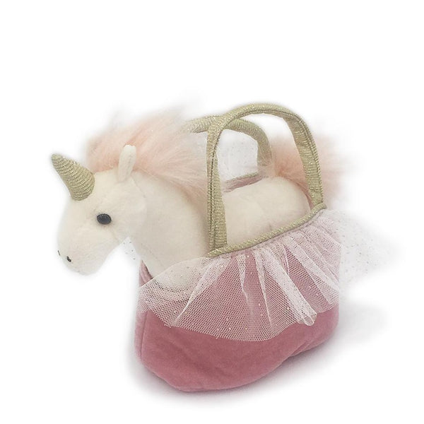 'OPHELIA' PRETTY UNICORN PLUSH TOY IN PURSE