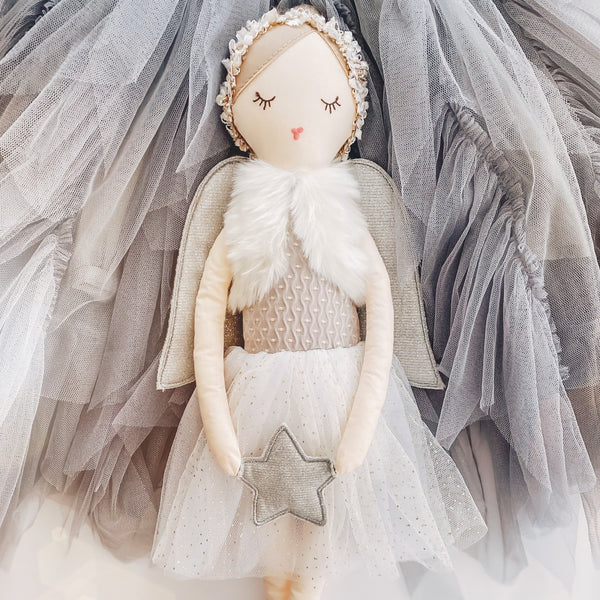 'Anna' Large Silver Angel Doll