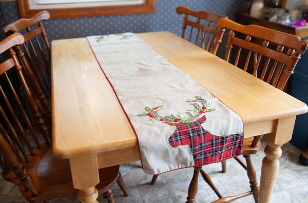 Tartan Reindeer Table Runner
