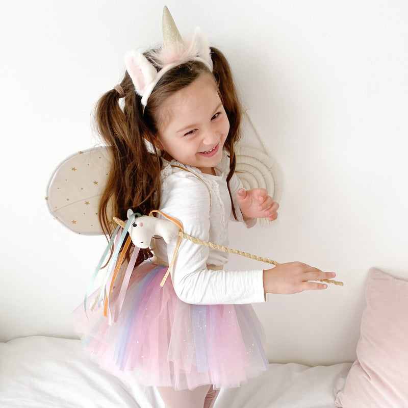 LINEN PLUSH UNICORN WAND 2PC SET