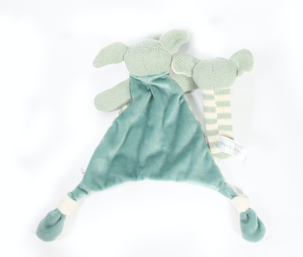 Blue Elephant Knit Baby Gift set