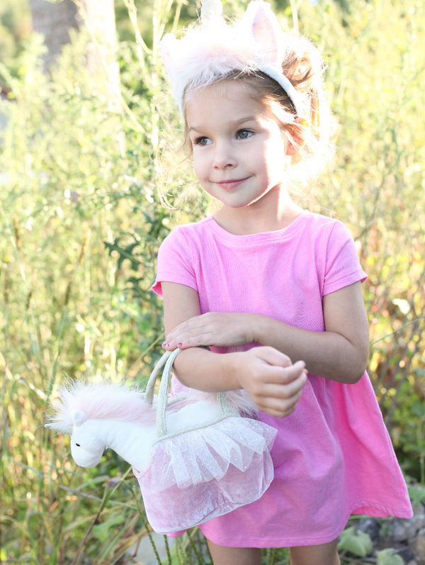 'Ophelia' Unicorn Plush Doll & Toy Purse