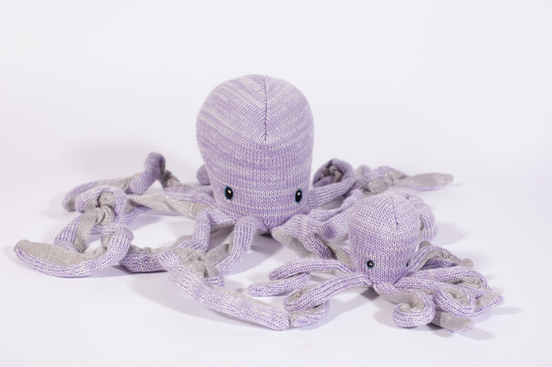 'Orla' Octopus Cotton Knit Baby Rattle