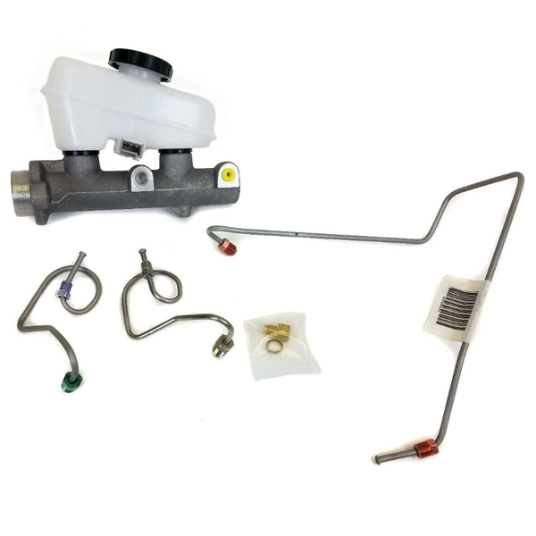 "Master Cylinder (15/16"") with Hard-line Conversion for 87 to 93 Foxbody Mustang"