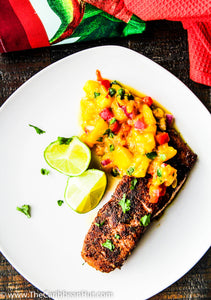 Jerk Salmon With Honey Mango Salsa