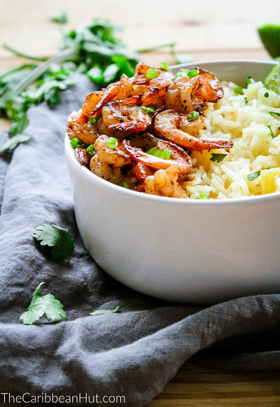 Jerk Shrimp With Pineapple Rice