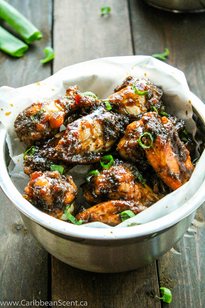 Maple Glazed Jerk Chicken Wings Recipe