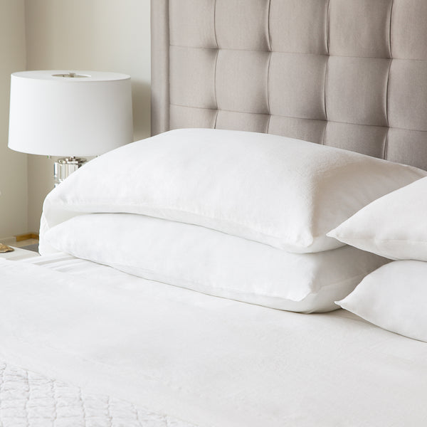 French Linen Queen Pillowcase White