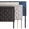 Rectangle Diamond Tufted Upholstered Headboard Twin Stone