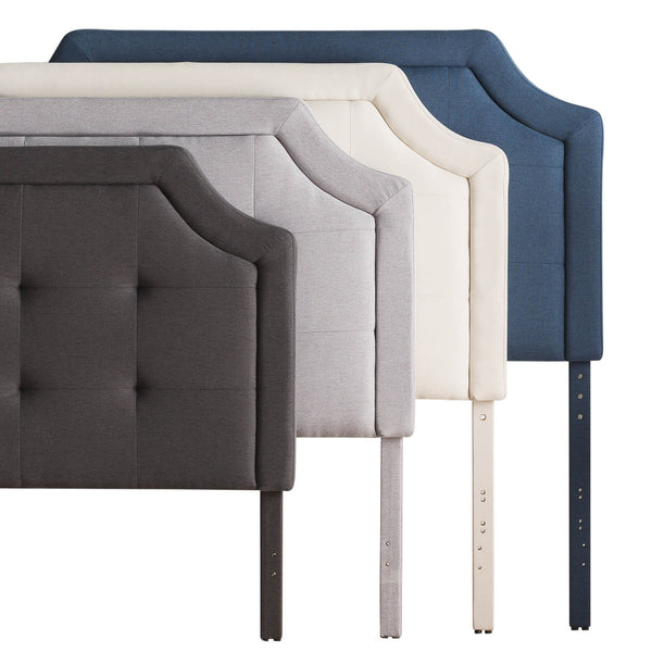 Scooped Square Tufted Upholstered Headboard Twin Stone