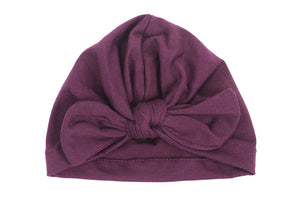 10 Colors Autumn Winter Newborn Hat Baby Toddler Kids Boy Girl Bowknot Soft Beanie Hat Cap Cotton Baby Turban Hair Accessories