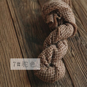 40*160 cm Stretch Lattice Soft Wrap Newborn Photography Props Baby Photo Shoot Accessories Photography Backdrops For Studio