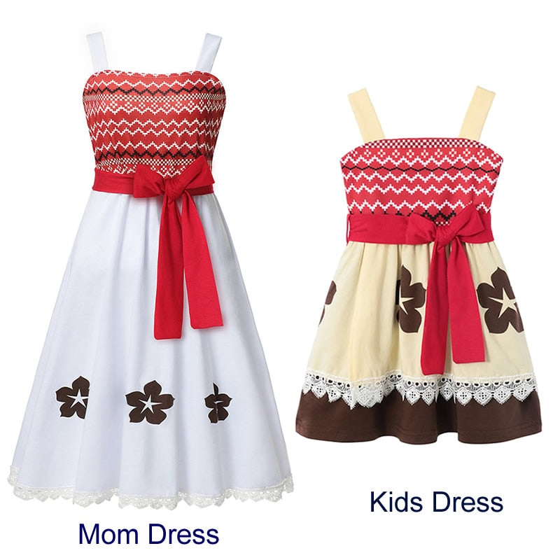 Mom Daughter Princess Dress Snow White Little Mermaid Ariel Cosplay Costume Halloween Party Fancy Clothes Holiday Family Outfits