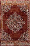 4643 Burgundy Bohemian Distressed Oriental Area Rugs
