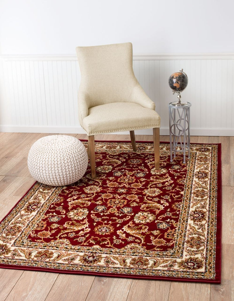 4629 Burgundy Persian Floral Area Rugs