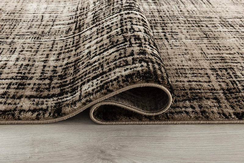 5063 Brown Farmhouse Distressed Contemporary Area Rugs