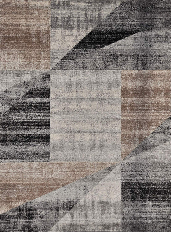 5050 Gray Beige Distressed Contemporary Area Rugs