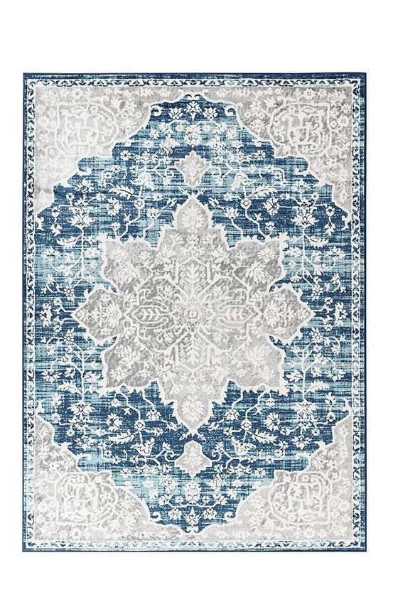 4649 Blue Bohemian Distressed Oriental Area Rugs