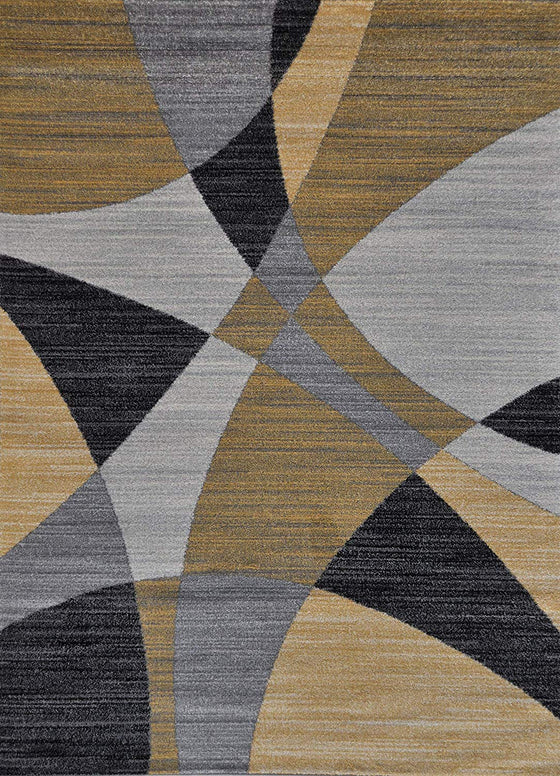 5064 Gold Abstract Contemporary Area Rugs