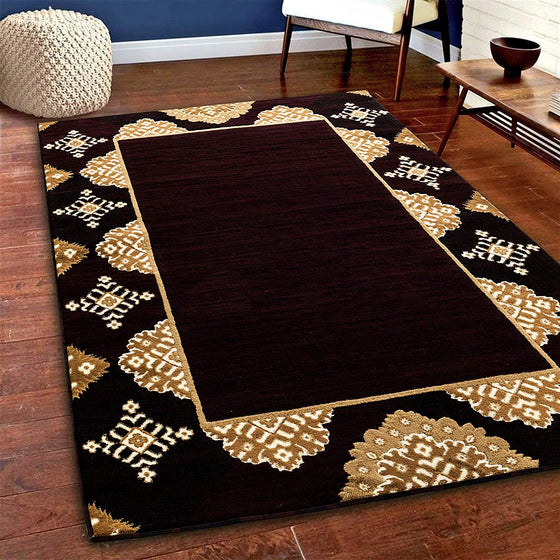 5055 Burgundy Abstract Contemporary Area Rugs