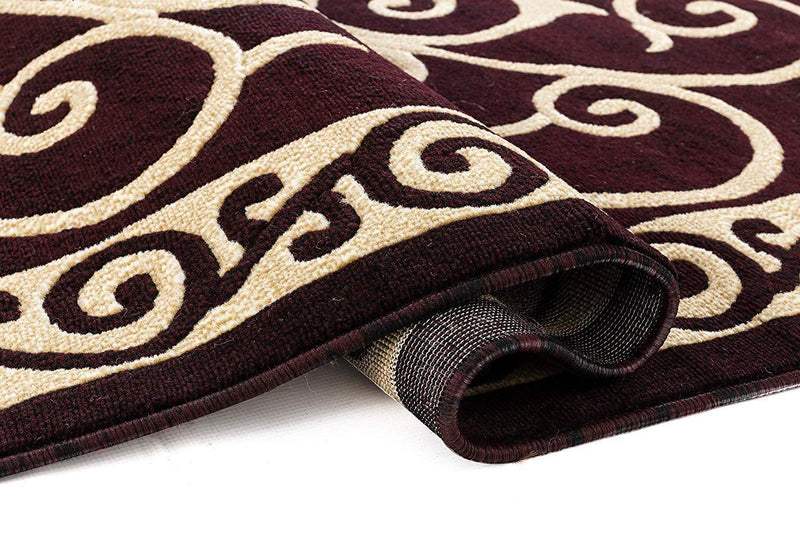 4634 Burgundy Traditional Area Rugs