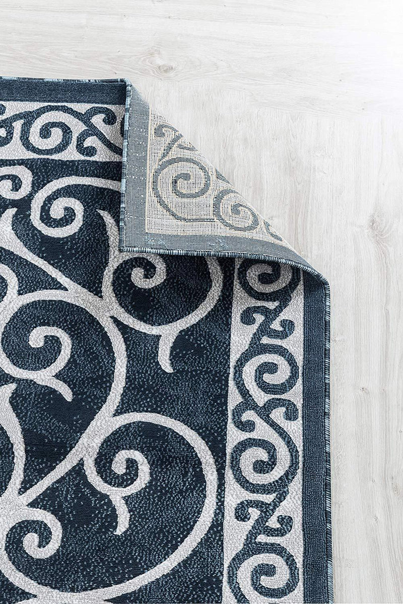 4634 Blue Traditional Area Rugs