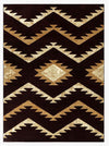 2100 Burgundy Contemporary Area Rugs