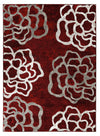 2101 Red Abstract Contemporary Area Rugs