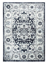 5056 Navy Blue Medallion Distressed Oriental Area Rugs