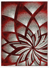 2105 Red Abstract Contemporary Area Rugs