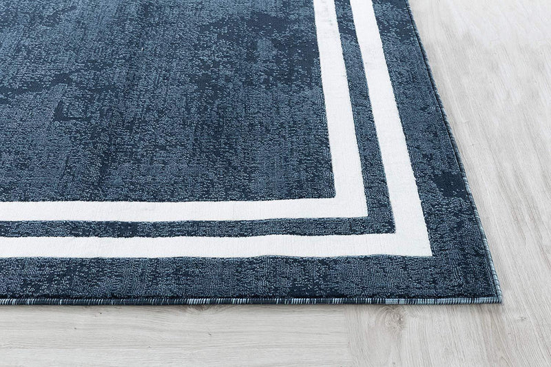 2103 Blue Contemporary Area Rugs