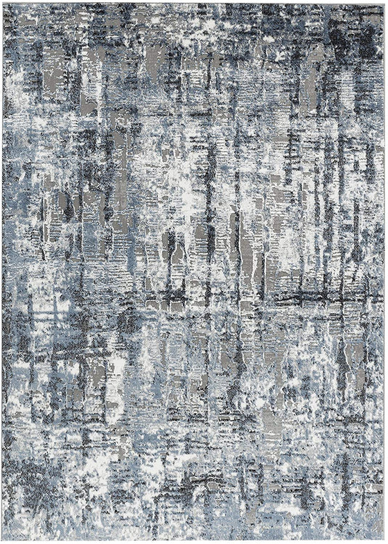 2813 Blue Gray Bohemian Contemporary Area Rugs