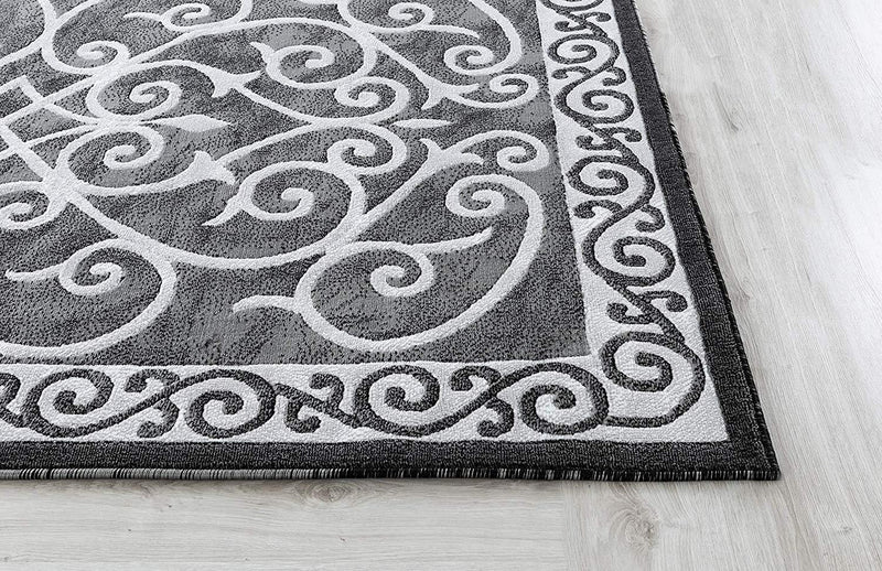 4634 Gray Traditional Area Rugs