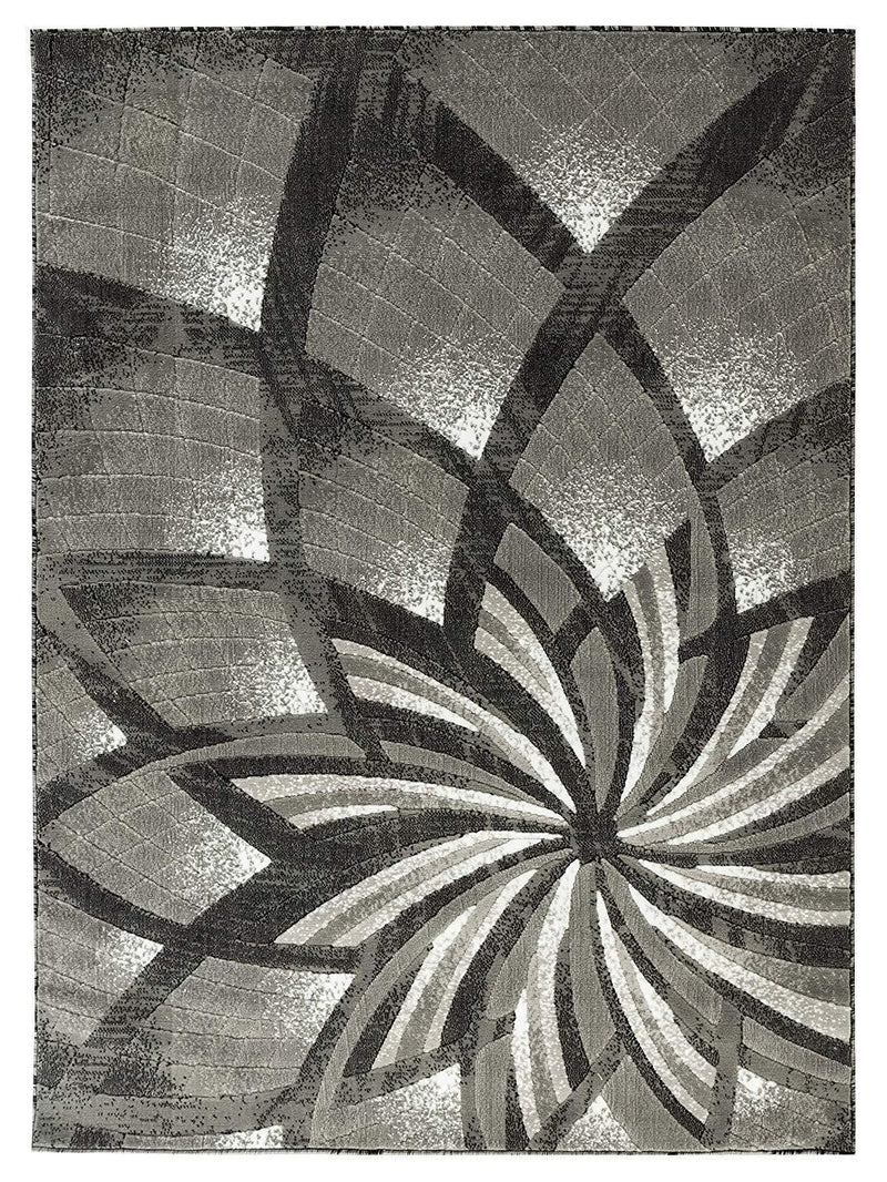 2105 Gray Abstract Contemporary Area Rugs