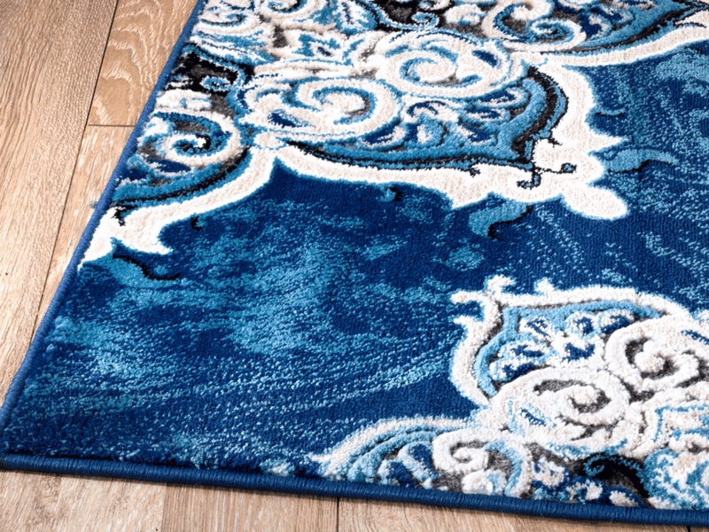4627 Blue Medallion Traditional Area Rugs