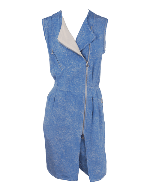 3.1 PHILLIP LIM CLOTHINGMISC DENIM / 4 Zip Pocket Biker Romper