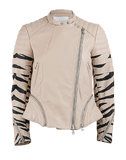3.1 PHILLIP LIM CLOTHINGTOPBLOUSE NUDE / 4 Quilt Tiger Sleeve Leather Jacket