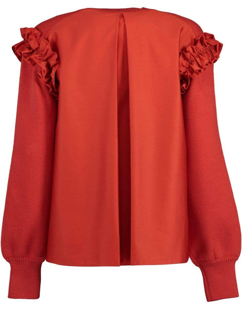 ADEAM CLOTHINGTOPSWEATER Red Ruffle Sweater
