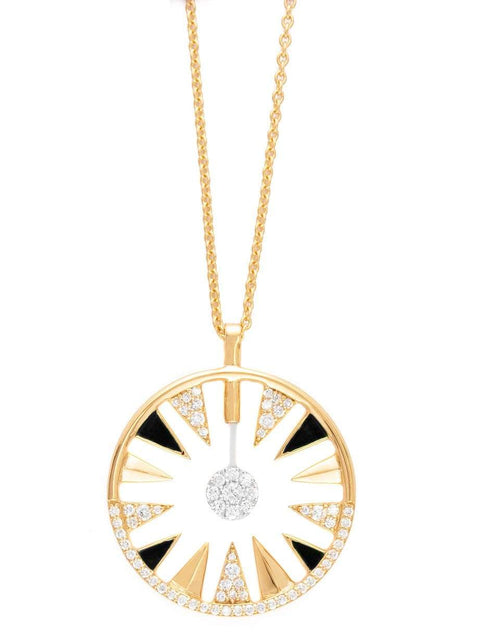 ALESSA JEWELRY JEWELRYFINE JEWELNECKLACE O YLWGOLD Clique Orbit Diamond Necklace