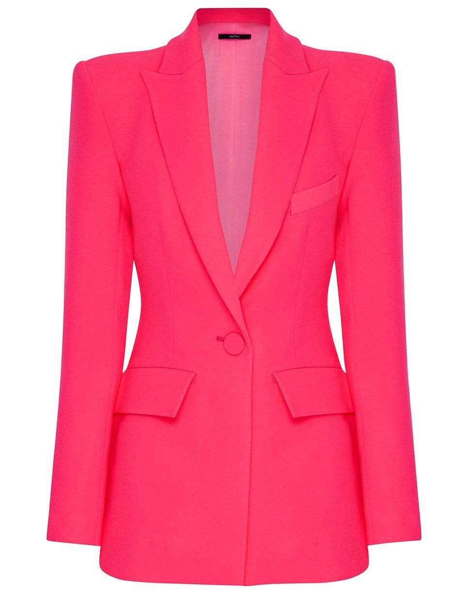 Image of Carter One Button Stretch Crepe Blazer