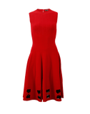 ALEXANDER MCQUEEN CLOTHINGDRESSCASUAL Stitch Bottom Midi Dress