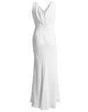 ALEXANDER MCQUEEN CLOTHINGDRESSGOWN IVORY / 44 V-Back Slim Gown