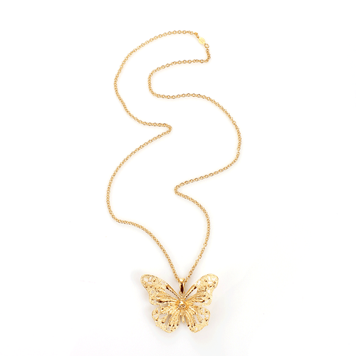 ALEXANDER MCQUEEN JEWELRYBOUTIQUENECKLACE O AS SAM Butterfly Pendant Necklace