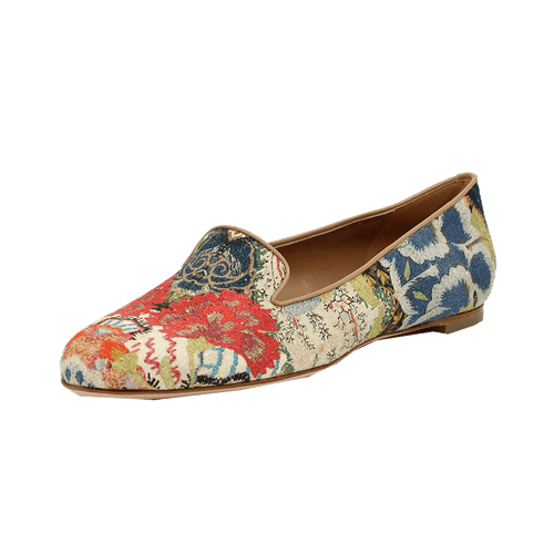 ALEXANDER MCQUEEN SHOEFLAT SHOE Patchwork Print Loafer